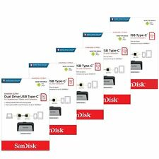 Sandisk Ultra 16/32/64/128/256GB Dual USB 3.1 Type-C Drive Stick Chiave 150MB/s