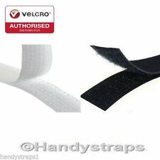 VELCRO® Brand  Sew on Tape Black or White Hook & Loop Stitch on tape for Fabric