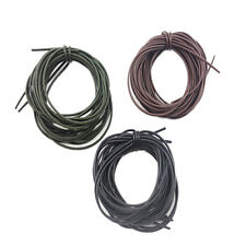 3X 1 Meters Carp Fishing Silicone Rig Sleeves Black/Green/Brown Soft Carp Tube D