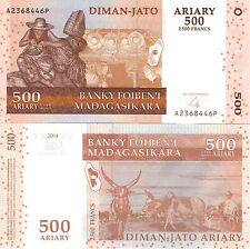 MULTI-VARIATION LISTING 3 denominations ariary banknotes of Madagascar UNC