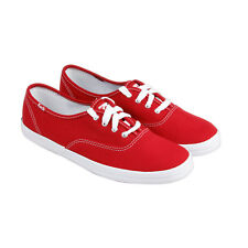 Keds Champion Womens Red Canvas Lace Up Sneakers Shoes