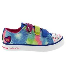Kids Girls Skechers Twinkle Toes Twinkle Breeze Silly Me Party Trainer All Sizes