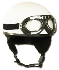 CASCO Media blanco con gafas, Casco, Bike, Casco -nuevo
