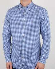 Gant Broadcloth Gingham Shirt in Yale Blue & White Check - long sleeve, cotton