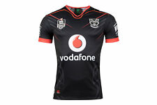 Canterbury Men New Zealand Warriors NRL 2018 Home Short Sleeve Rugby Shirt Black