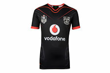 Canterbury New Zealand Warriors NRL 2018 Home Boy Short Sleeve Rugby Shirt Black