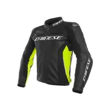 Chaqueta de motociclista Piel Dainese Racing 3 fluo black yellow leather jacket