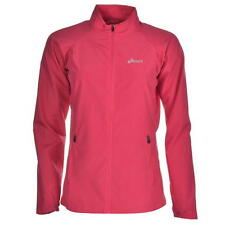 Women's Ladies asics WOVEN Pink Zip Running Jogging Fitness Jacket MOTIONPROTECT