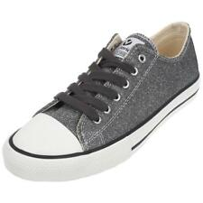 Chaussures basses cuir ou simili Victoria Stass anth brillant Gris 75405 - Neuf