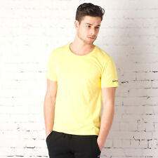 Mens Reebok Tri-Blend Training T-Shirt In Yellow From Get The Label