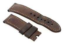 Genuine Officine Panerai 24mm brown calf leather watch strap for a pin buckle