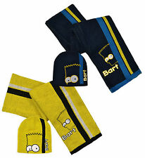 Niños Bart Simpsons THE SIMPSONS Sombrero/Bufanda Set hm4284