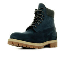 Chaussures Boots Timberland homme 6in Premium Boot taille Bleu marine Bleue Cuir
