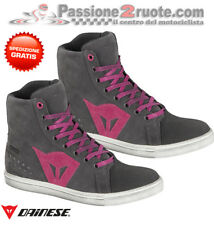 Scarpe moto donna Dainese Street Biker lady WP antracite fucsia shoes