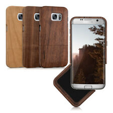 kwmobile CUSTODIA RIGIDA LEGNO PER SAMSUNG GALAXY S7 EDGE VERO NATURALE COVER