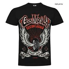 Official GMG T Shirt Gas Monkey Garage Tyre WINGS Blood Sweat Tears All Sizes