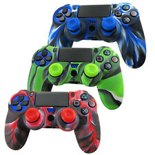 Dualshock 4 PS4 Joystick Custodia in silicone aderente impugnatura COVER &2