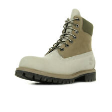 Chaussures Boots Timberland homme 6 IN Premium Boot taille Beige Nubuck Lacets