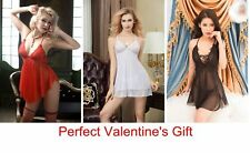 Sexy Babydoll Chemises Nightdress G-String Stocking Set - Perfect Valentine Gift
