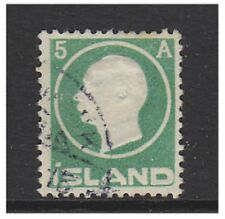 Iceland - 1912, 5a King Frederick VIII stamp - Used - SG 102