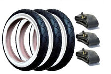 GENUINE Phil and Teds Pram Tyres & Free Tubes (Set of 3) with White Wall