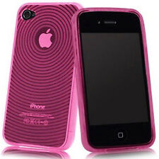 Round Pattern TPU Hybrid Silicone Gel Rubber Case Cover For Apple iPhone 4 4S UK
