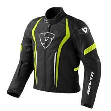 Chaqueta de motociclista Rev'it Revit Escudo negro amarillo impermeable