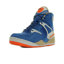 Chaussures Baskets Reebok homme The Pump Certified taille Bleu Bleue Cuir Lacets