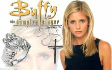 Buffy Lot 1 croce Di buffy e 1 anello claddagh zirconi Di Buffy ring e croce