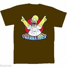 Simpsons t-shirt ufficiale Homer Simpsons Ho wanna roccia official T-shirt