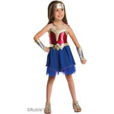 Deluxe New Girls Superhero Wonder Woman Fancy Dress Costume