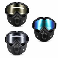 New Detachable Motocross Goggles Dust Mask Face Glasses With Motorcycle Glasses