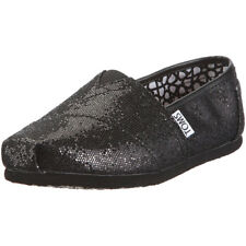 Boys Toms Classic Glitter Kids Trainers Slip On Pumps Flat Size