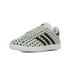 Chaussures Baskets adidas femme Gazelle W taille Beige Cuir Lacets