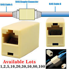 RJ45 Ethernet Network LAN Cat5e Cat6 Cable Joiner Adapter Coupler Extender Lot