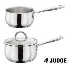 Judge Clásico Acero Inoxidable Inducción Leche Pan o cazo 14 , 16 , 18 or 20cm