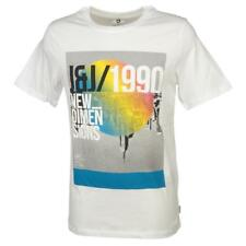 Tee shirt manches courtes Jack and jones Dave white mc tee Blanc 44187 - Neuf