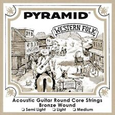 Pyramid Western Folklore guitare acoustique Bronze Cordes LOT