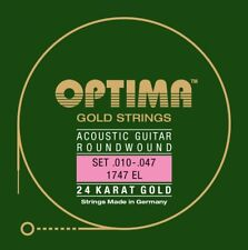 Optima 24K Oro Strings Acustica Chitarre Corde Set Acoustic Strings Set