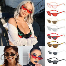 WOMEN VINTAGE CAT EYE SUNGLASSES RETRO SMALL FRAME UV400 EYEWEAR FASHION LADIES