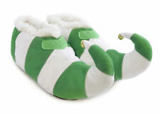SlumberzzZ Mens Ladies 3D Xmas Elf Pixie Faux Fur Lining Novelty Boot Slippers