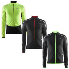 Craft Mens Storm Cycling Jersey Top - New Windproof Full Zip Thermal Running