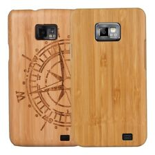 kwmobile FUNDA DE MADERA PARA SAMSUNG GALAXY S2 S2 PLUS NATURAL CARCASA
