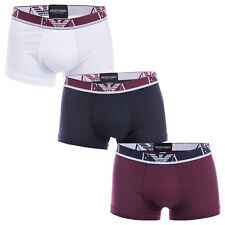 Mens Armani 3 Pack Boxers In White/Blue/Red From Get The Label