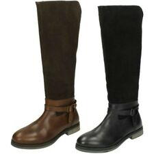 ' Mujer Leather Collection ' Botas Altas a Rodilla - f5r0662