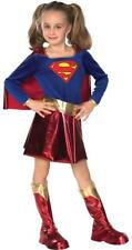 Girls Supergirl Superhero Fancy Dress Costume - Deluxe Metallic