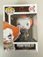 FUNKO POP IT Pennywise With Boat Stephen King Blue Eyes *IN HAND* RARE