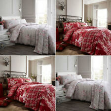 Catherine Lansfield Canterbury Brushed Check Flannelette Duvet Cover Set