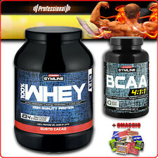 ENERVIT GYMLINE MUSCLE BCAA 120/300caps + WHEY PROTEIN 700g proteine concentrate