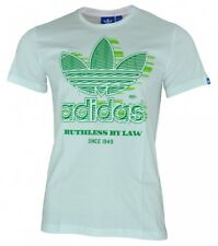 Adidas Graphic Ruthless BY Low Trefoil T-shirt Uomo Maglietta camicia bianco